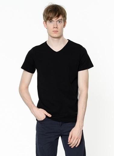 Lee Cooper V Yaka Tişört Siyah